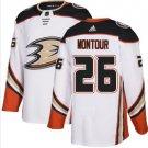 Mens Brandon Montour 26# Anaheim Ducks Ice Hockey Stitched Jersey White