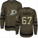Mens Rickard Rakell 67# Anaheim Ducks Ice Hockey Stitched Jersey Green