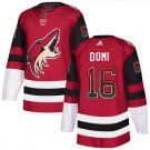 Mens Max Domi 16# Arizona Coyotes Ice Hockey Stitched Jersey Red