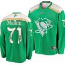 Mens Evgeni Malkin 71# Pittsburgh Penguins Ice Hockey Stitched Jersey Green