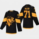 Mens Evgeni Malkin 71# Pittsburgh Penguins Ice Hockey Stitched Jersey Black