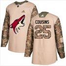 Mens Nick Cousins 25# Arizona Coyotes Ice Hockey Stitched Jersey White