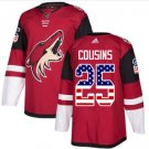 Mens Nick Cousins 25# Arizona Coyotes Ice Hockey Stitched Jersey Red