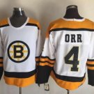 Mens Bobby Orr 4# Boston Bruins Ice Hockey Stitched Jersey White