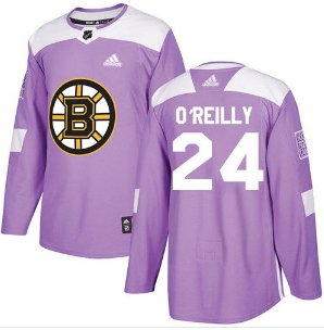 Mens Terry O'reilly 24# Boston Bruins Ice Hockey Stitched Jersey Purple