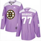 Mens Ray Bourque 77# Boston Bruins Ice Hockey Stitched Jersey Purple