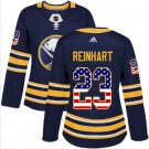 Womens Sam Reinhart 23# Buffalo Sabres Ice Hockey Stitched Jersey Blue
