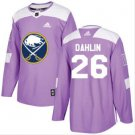 Mens Rasmus Dahlin 26# Buffalo Sabres Ice Hockey Stitched Jersey Purple