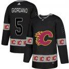 Mens Mark Giordano 5# Calgary Flames Ice Hockey Stitched Jersey Black