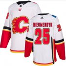 Mens Joe Nieuwendyk 25# Calgary Flames Ice Hockey Stitched Jersey White