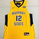 Mens Ja Morant 12# Murray State College Yellow Jersey NCAA