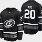 Mens Sebastian Aho 20# Carolina Hurricanes Ice Hockey Stitched Jersey Black