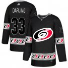 Mens Scott Darling 33# Carolina Hurricanes Ice Hockey Stitched Jersey Black