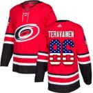 Mens Teuvo Teravainen 86# Carolina Hurricanes Ice Hockey Stitched Jersey Red