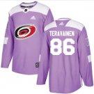 Mens Teuvo Teravainen 86# Carolina Hurricanes Ice Hockey Stitched Jersey Purple