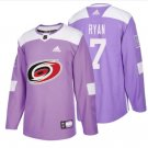 Mens Derek Ryan 7# Carolina Hurricanes Ice Hockey Stitched Jersey Purple