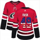 Womens Victor Rask 49# Carolina Hurricanes Ice Hockey Stitched Jersey Red