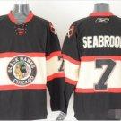 Mens Brent Seabrook 7# Chicago Blackhawks Ice Hockey Stitched Jersey Black