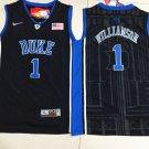 Youth Duke Blue Devils 1 Zion Williamson Basketball Black Jersey