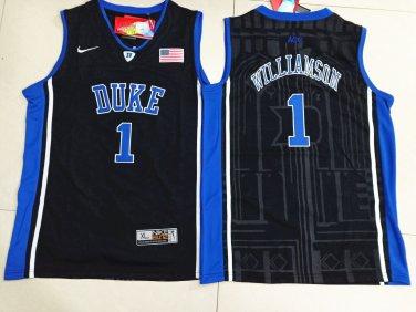 buy popular 3f02d 89d91 Youth Duke Blue Devils 1 Zion Williamson Basketball Black Jersey