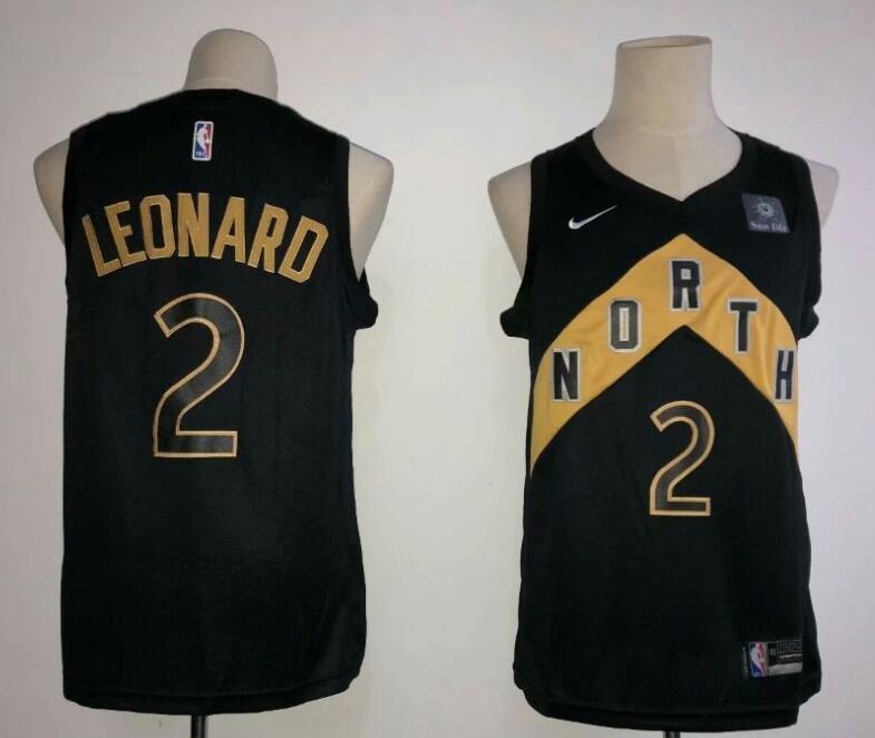 b740cb0135a NBA--JERSEY Men's Toronto Raptors #2 Kawhi Leonard Basketball Black Gold  Jersey New