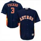 Men's Kyle Tucker #3 Houston Astros Navy Alternate Cool Base Jersey