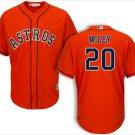 Youth Houston Astros #20 Wade Miley orange alternate cool base Jersey