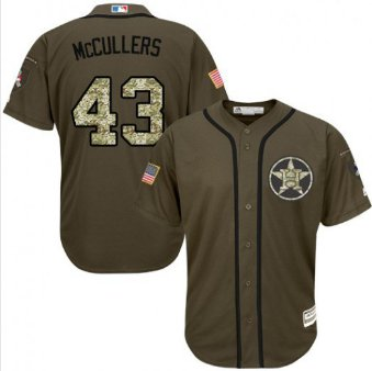 Men's Houston Astros #43 Lance McCullers Green Salute to Service Jersey Camo