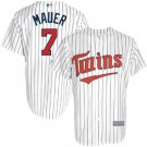 Men's Minnesota Twins #7 Joe Mauer white Cool Base Jersey