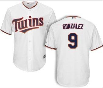 Youth Minnesota Twins #9 Marwin Gonzalez white home cool base Jersey