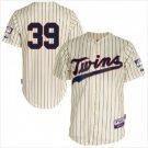 Men's Minnesota Twins #39 Trevor Hildenberger Cream Cool Base Alternate Jersey - blank