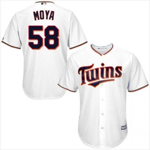 Men's Minnesota Twins #58 Gabriel Moya White Home Cool Base Jersey