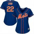 Women's Robinson Cano #24 New York Mets blue alternate cool base jersey