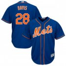 Youth J.D. Davis Jersey #28 New York Mets Blue Alternate Cool Base Jersey