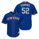 Youth New York Mets 52# Yoenis Cespedes Blue Alternate cool Base Jersey