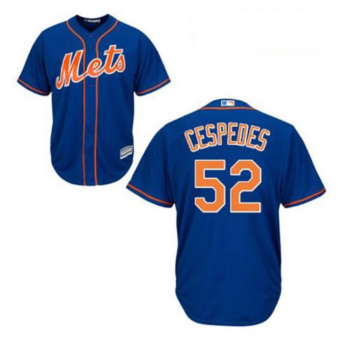 Youth New York Mets #52 Yoenis Cespedes Blue Alternate cool Base Jersey