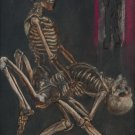 Tango with Death is Life. Original Pastel on the Paper painting. Handmade