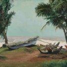 Boats on Sri Lanka Original Oil Painting Handmade
