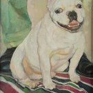 My white dog friend. Original oil painting Handmade