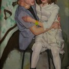Unity. Boy and Girl. Original Oil Painting Handmade