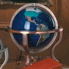 HHGLB330/00: SALE-KASSEL LARGE GLOBE WITH SEMI-PRECIOUS STONES & STAND-Great Wholesale Price
