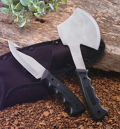 SKAX2: Maxam 2pc Hunting Knife and Ax Combo
