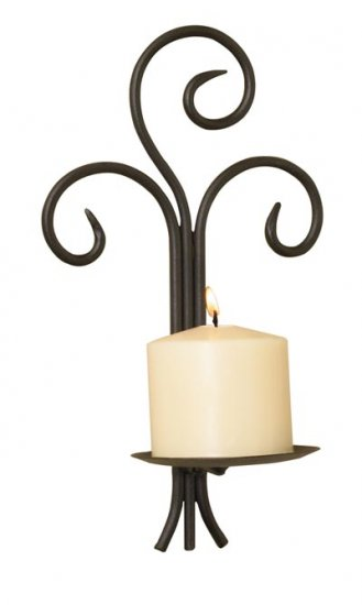LB47126/00: Luca Bella Home Forged Scroll Wrought Iron Wall Sconce