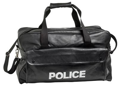 "LUPOLICE: Embassy Pebble Grain Genuine Leather ""POLICE"" Duffle (Safety) Bag-Not Just for Officers"