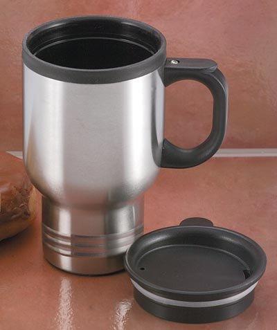 KTMUGPL/00: Maxam 14 oz. Stainless Steel Travel Mug