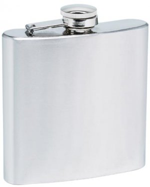 KTFLASK6/00: Wholesale Maxam Stainless Steal Hip Flask - 6 oz.