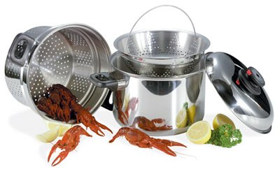 KT82/00: SALE-Steam Control 8 qt Stainless Steel Spaghetti Cooker-4 pc. Set