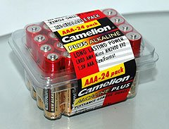 LR03-PB24: CAMELION AAA Alkaline Long-Life Batteries-24: Add to order for little to no extra on S&H