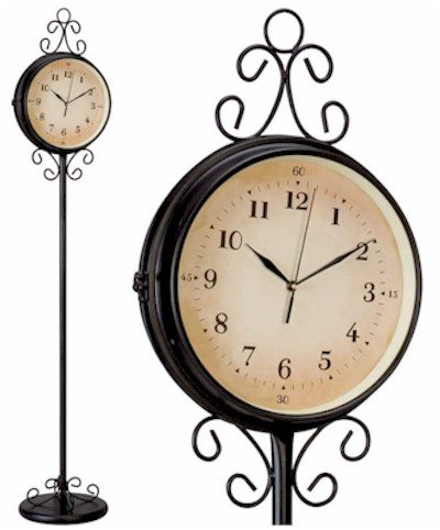 Hhfc 00 Sale Kassel Double Sided Wrought Iron Floor Clock