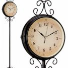 HHFC/00: SALE: Kassel Double Sided Wrought Iron Floor Clock